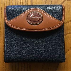Vintage Dooney & Bourke Navy Leather Wallet